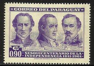 Paraguay 1961 Scott# 584 MH