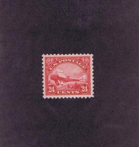 SCOTT# C6 UNUSED ORIGINAL GUM NH 24 CENT DEHAVILLAND BIPLANE, 1923, EXTRA FINE.