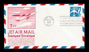 SCOTT #UC33 JET AIR MAIL ENVELOPE C STEPHEN ANDERSON CACHET FDI ASDA SHOW 1958