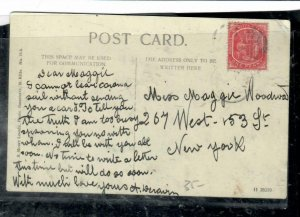 ST  KITTS  NEVIS COVER (P0407B)   1D COLUMBUS ON PPC TO USA