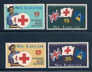 St. Lucia 282-285 Mint VF NH