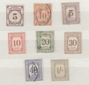 Kenya Uganda & Tanganyika 1928/35 Postage Due Collection SGD11/12 VFU/MH J6645