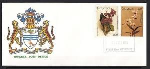 Guyana, Scott cat. 1169, 1210. 16th Orchid issue. First Day Cover. ^
