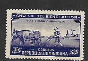 DOMINICAN REPUBLIC, 329, MINT HINGED, SYMBOLICAL OF PEACE LABOR AND PROGRESS