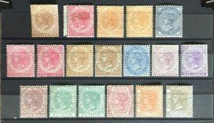 MALAYA 1882-91 STRAITS SETTLEMENTS QV wmk CA 18V Mint SG#50-53/63-71 M3251