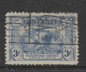 Australia - Scott 112 - Southern Cross & Hemispheres -1931-Fine Used - 3p Stamp