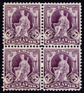 US CUBA STAMP #229 3C 1899 BLK OF 4 MNH/OG