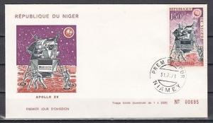 Niger, Scott cat. C162. Apollo 15 issue. First day cover.