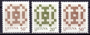 Lithuania. 1997. 647I-48I, II. Standard Double Cross. MNH.