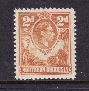 Northern Rhodesia the scarce KGVI 2d orange MLH