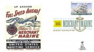 Merchant Marines First Day Cover, w/Digital Color Pictorial