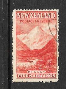 NEW ZEALAND 1906  5/-  PICTORIAL  FU  P14   SG 329    CP E21a