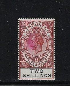 GIBRALTAR SCOTT #86 1921-32 GEORGE V 2 SHILLINGS -WMK 4 - MINT LIGHT HINGED