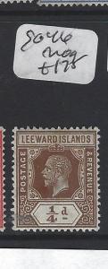 LEEWARD ISLANDS (P2305B)  KGV  1/4 D  SG  46   MOG