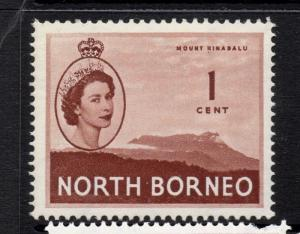 North Borneo 1954 QEII Early Issue Fine Mint Hinged 1c. 225330