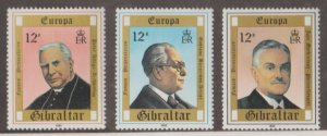 Gibraltar Scott #390-391-392 Stamps - Mint NH Set