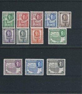 SOMALILAND 1942 SET OF TWELVE MM SG 105/16 CAT £50