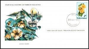 Maldive Islands 818 Flower U/A FDC