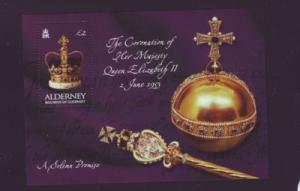 Alderney Sc 202 2003 50 yrs Coronation QE II stamp sheet ...