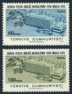 Turkey 1850-1851,MNH.Michel 2181-2182. New UPU Headquarters,1970.
