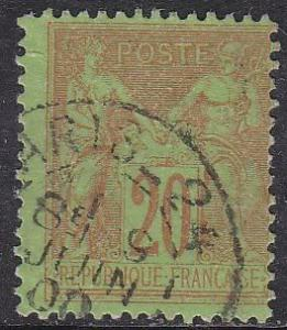 France Sc# 98 Hinged Used 1879