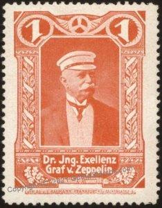 Germany Flight MNH Graf Zeppelin Donation Vignette Cinderella Stamp G102785