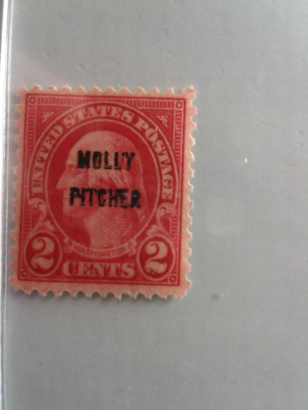 SCOTT # 646 MOLLY PITCHER OVERPRINT MINT NEVER HINGED GEM 1928 !!
