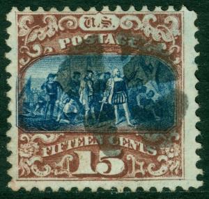 EDW1949SELL : USA 1869 Scott #119 Used. Great perforations. Fresh. Catalog $200.