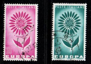 Italy # 894-95 ~ Cplt Set 2 ~ Used, HM