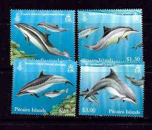 Pitcairn Is 733-36 MNH 2012 Dolphins