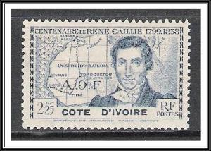Ivory Coast #162 Caillie Issue NG