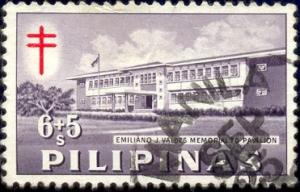 Emiliano Valdes T.B. Pavilion, Philippines stamp SC#B18 used
