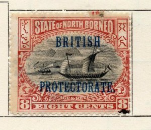 North Borneo 1901 Early Issue Fine Used 8c. Optd NW-113847