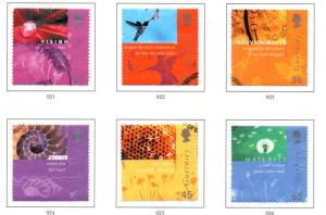 Guernsey Sc 743-8 2001 Guernsey Post Ltd stamp set used