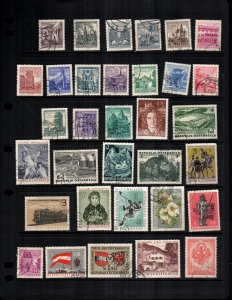 Austria  32 diff mint  hinged and used