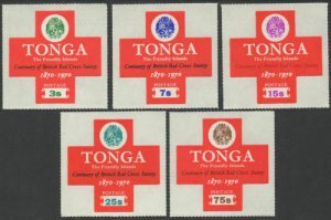 Tonga 1970 SG335-339 British Red Cross set MNH