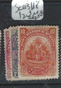 HAITI  (P1506B)  SC 113, 118, 120   MNG