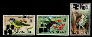 ST. VINCENT QEII SG380-382, birds 1973 set, M MINT. DOUBLE OPTS