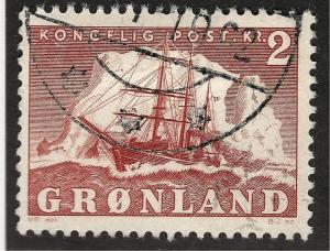 Greenland 1950 Sc #37 Used F-VF Cat $2.75...Quality Bargain!