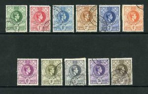 Swaziland SG28/38a Set of 11 (1 1/2d rounded corner 10/- small thin) Cat 35 Pou