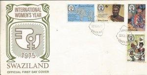 SWAZILAND, 1975,FDC,,Women Scott 1240-243