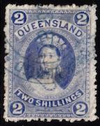 Queensland, #74, used, CV $60.00