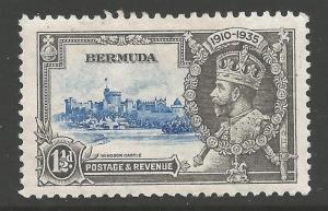 BERMUDA SG95m 1935 SILVER JUBILEE 1/= BIRD BY TURRET MTD MINT