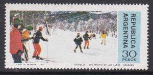 Argentina #1153 single F-VF Mint NH ** Skiers