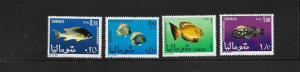 FISH- SOMALIA #316-319  MNH