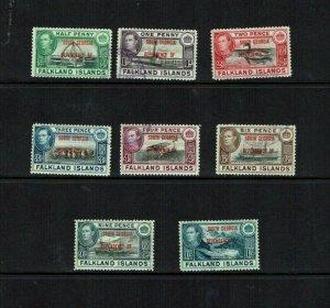 Falkland Islands Dependencies: 1944 South Georgia Overprint, Fine Used set