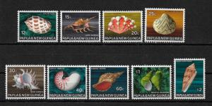 Papua Scott # 271-279 set VF never hinged scv $ 27 ! nice colors!see pic!