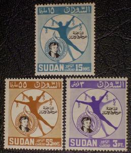 Sudan Scott #170-172 unused