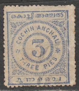 Inde / Cochin  1898  Scott No. 8  (O)