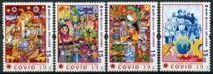 Sri Lanka 2020 MNH Medical Stamps Let's Rise Up Defeating Corona 4v Set
